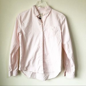 Universal Thread | Pink and white stripe button up